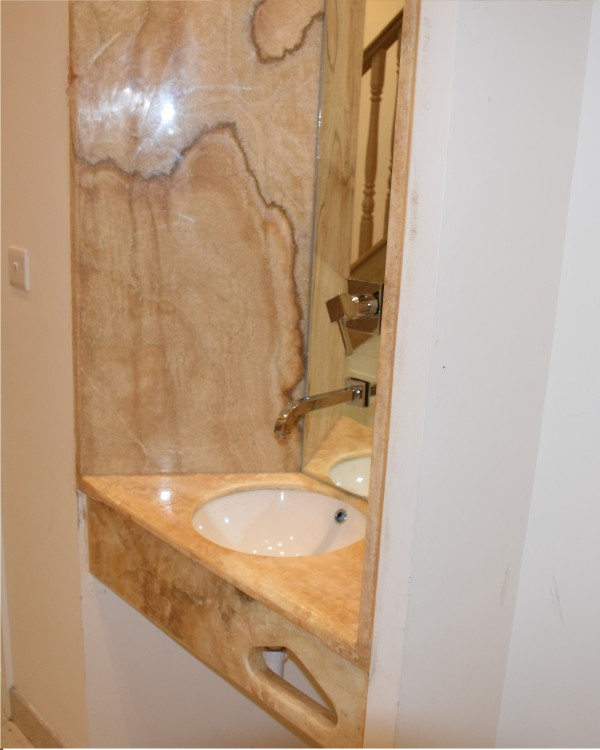 Honey Onyx  Custom Made Sink