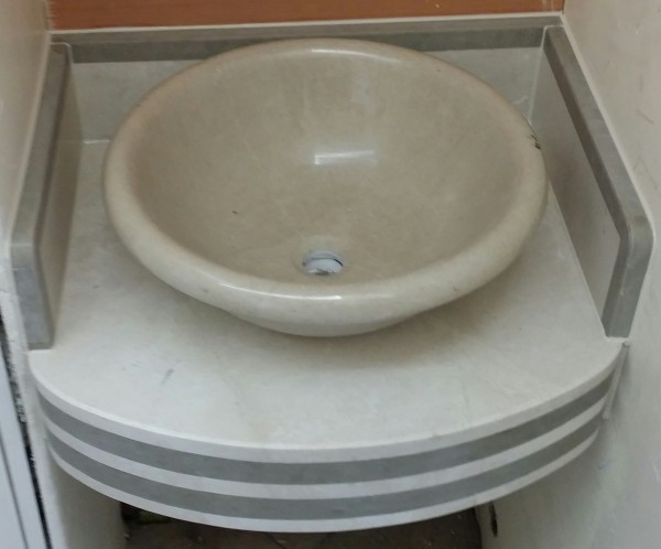 15cm Fall and Marble sink
