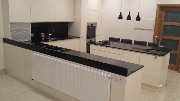 Absolute Black & Black Splashback